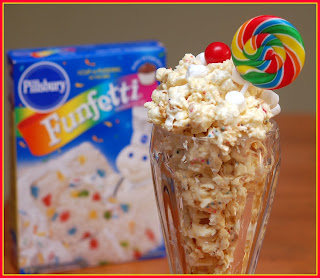 Cake Batter Popcorn Without White Chocolate