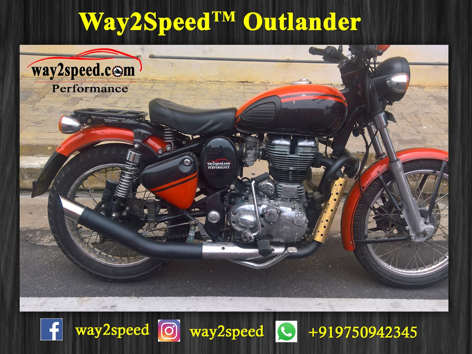 Royal Enfield Silencer | Way2speed Outlander | Royal Enfield exhaust | Best silencer for royal enfield | royal enfield classic 350 silencer sound | silencer for classic 350 | royal enfield glass wool silencer (ceramic wool) | silencer for bullet | Bullet silencer | Bullet silencer sound increase