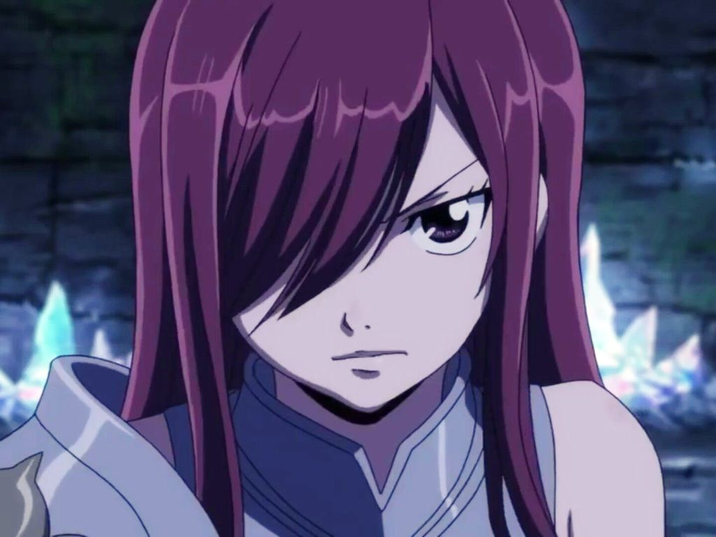 Fairy tail erza face other