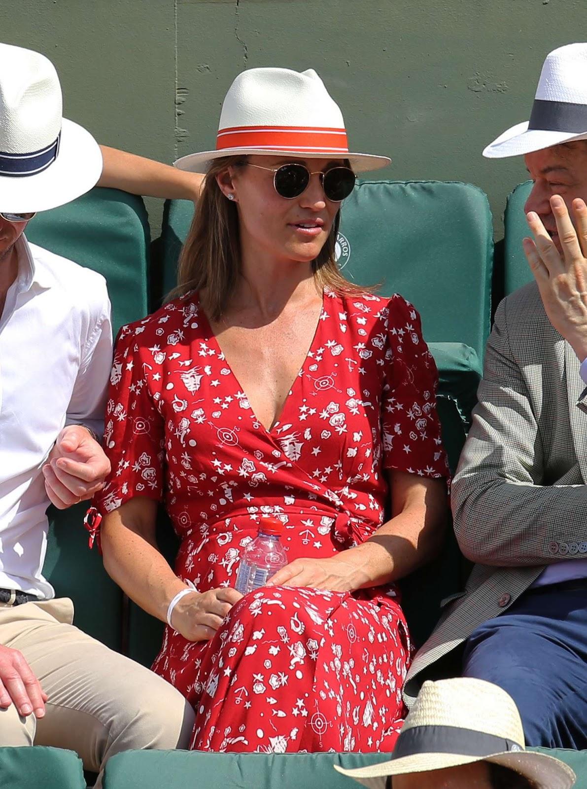 Pippa Middleton at Roland Garros 2018 in Paris