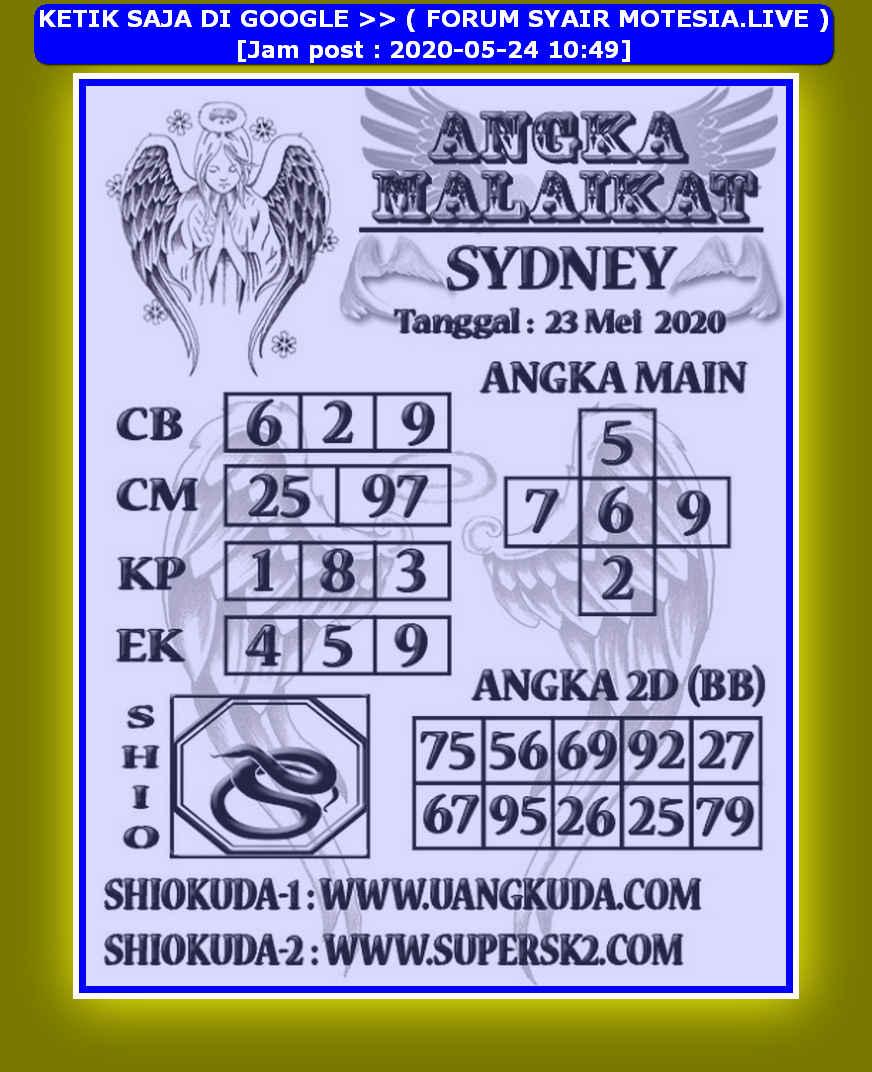 Kode syair Sydney Minggu 24 Mei 2020 48