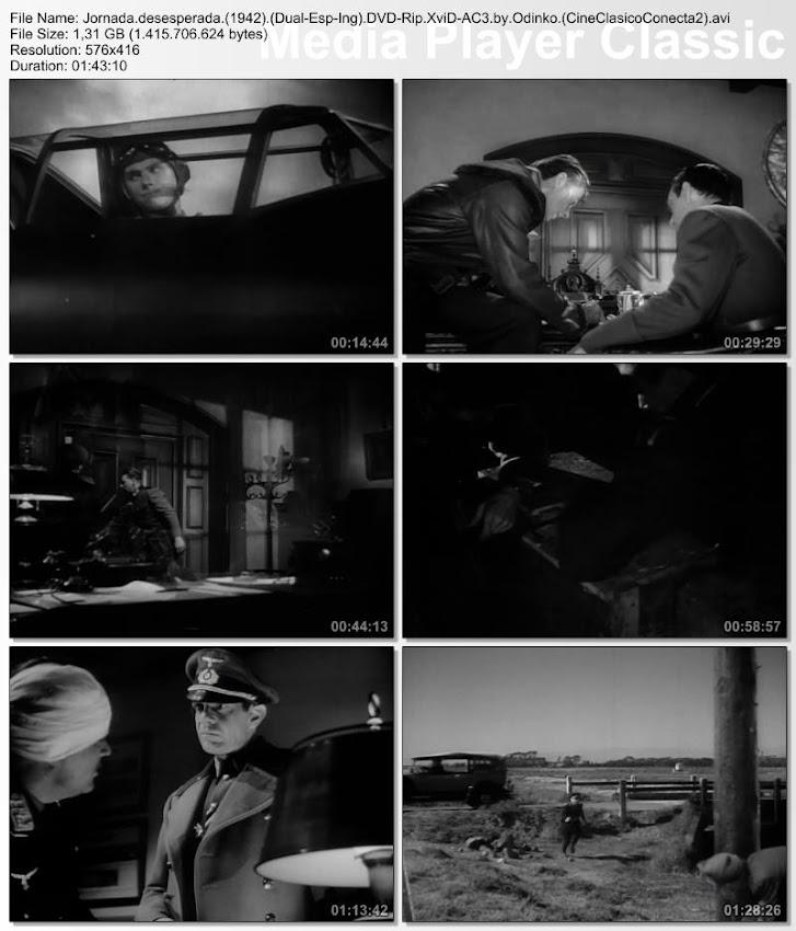 Jornada desesperada   1942   Desesperate Journey   Capturas de pantalla