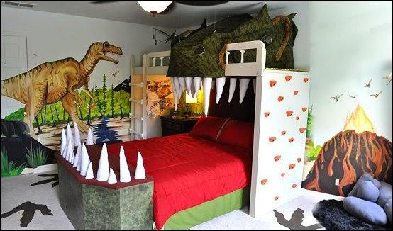 Diseño dormitorio dinosaurio