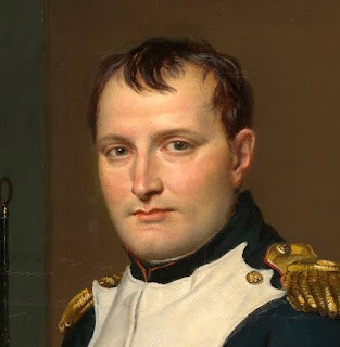 Napoleon Bonaparte: detail from the 1812 portrait by Jacques-Louis David
