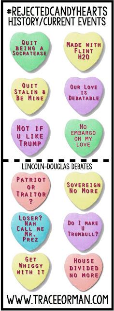 Valentine's Day History Current Events Candy Hearts www.traceeorman.com