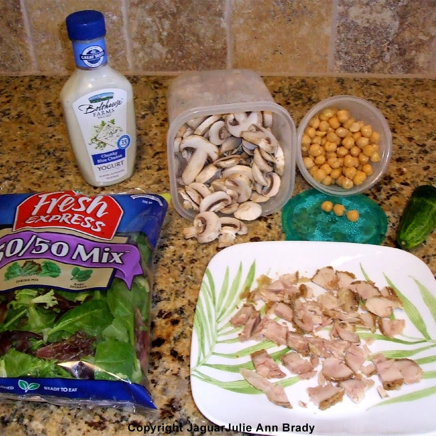 ingredients for breaded baked boneless skinless chicken thigh salad