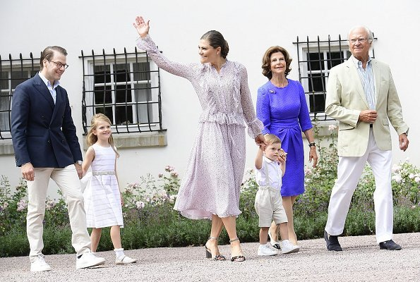Crown Princess Victoria wore ZADIG&VOLTAIRE Roma long dress