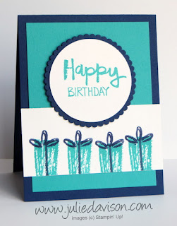 Stampin' Up! Paint Play stamp set Birthday Presents Card ~ 2017-2018 Annual Catalog