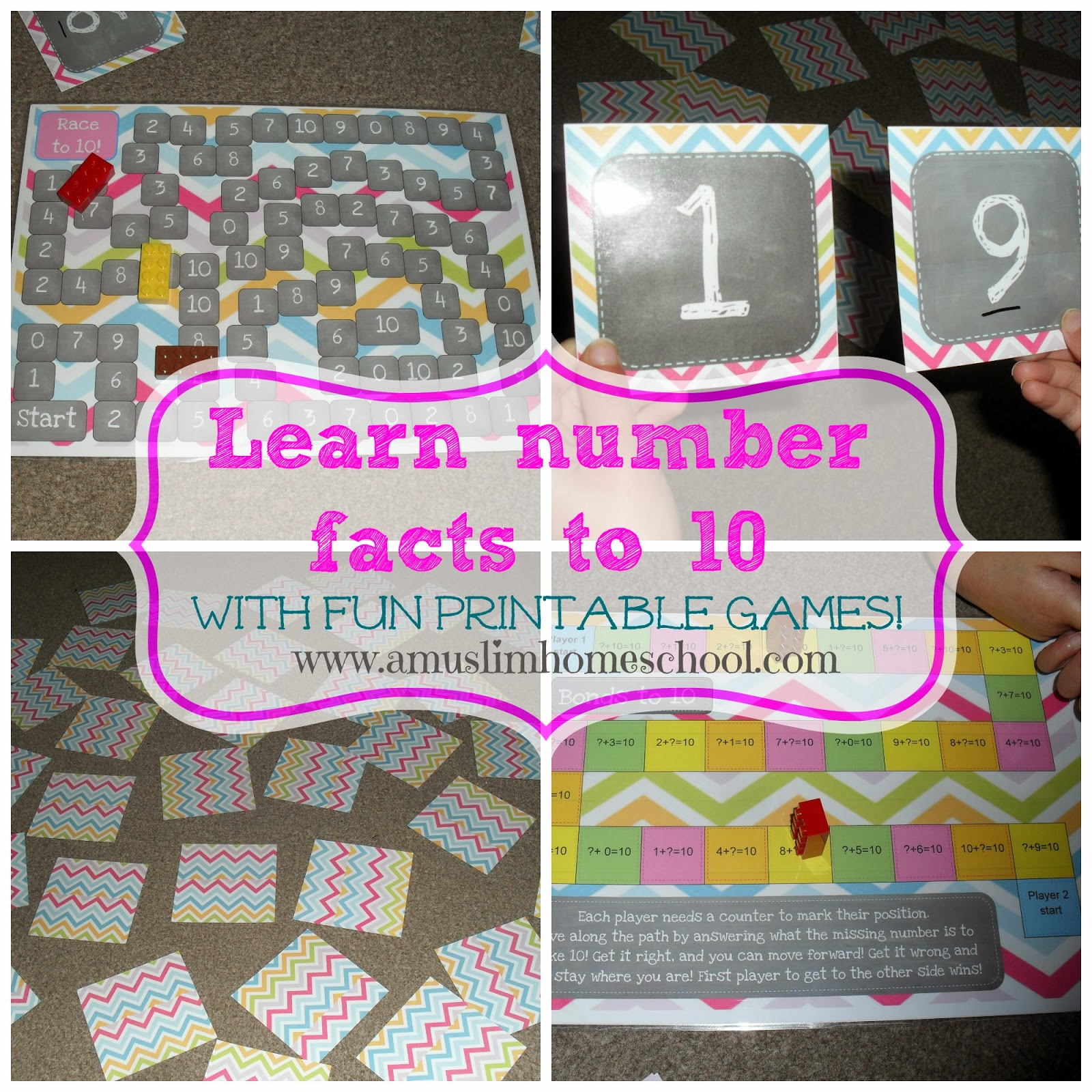 Iman S Home School Number Bonds To 10 Learning Pack