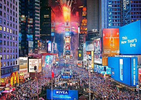 Times Square. 5 destinos soñados para viajar en nochevieja