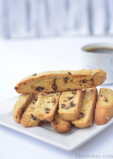 Lemon and Cranberry Biscotti