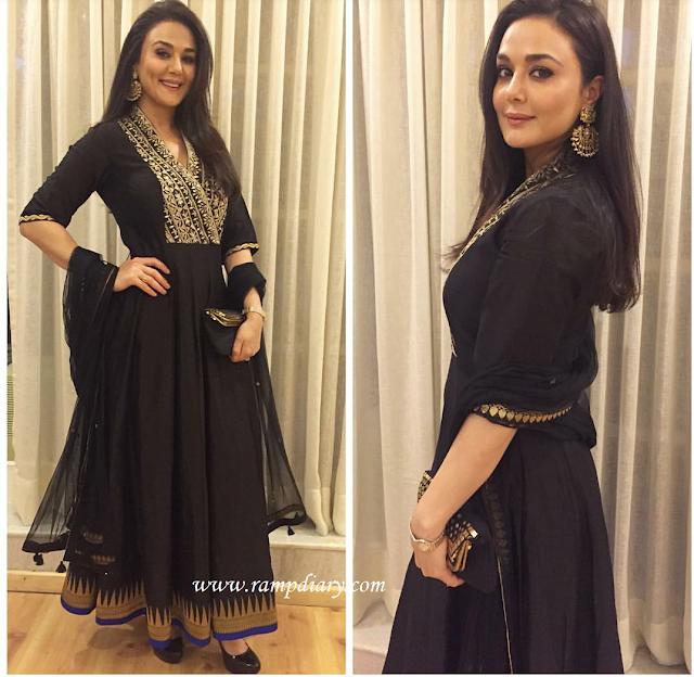 Preity Zinta In Anita Dongre Anarkali Suit