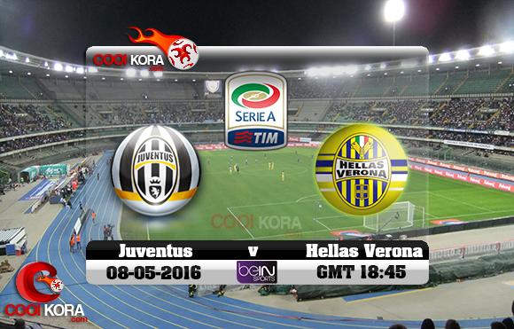 مشاهدة مباراة هيلاس فيرونا ويوفنتوس اليوم 8-5-2016 في الدوري الإيطالي