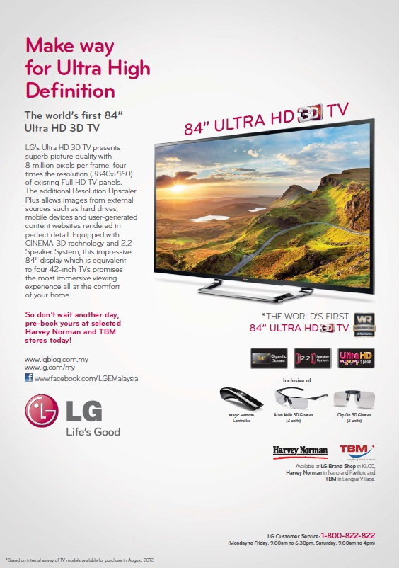 The promotional pamphlet for the latest and greatest from LG