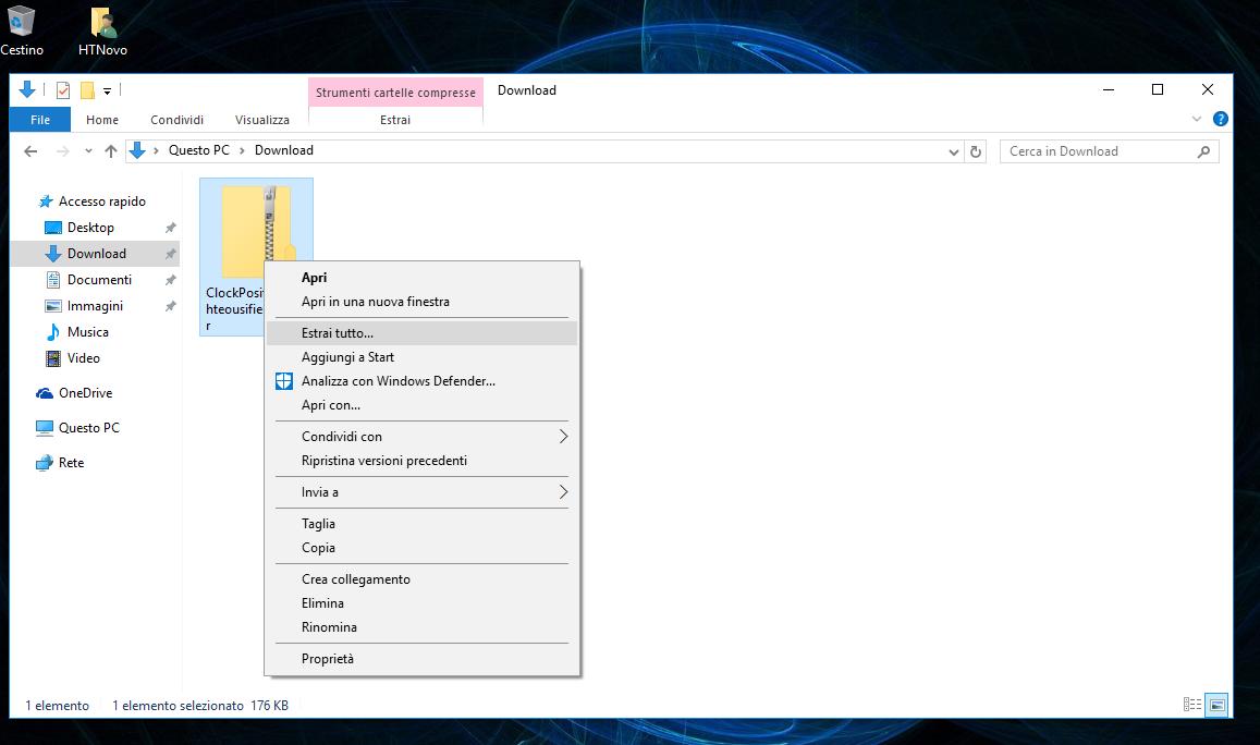 Come riposizionare l'orologio alla fine della Taskbar in Windows 10 AU 2 HTN