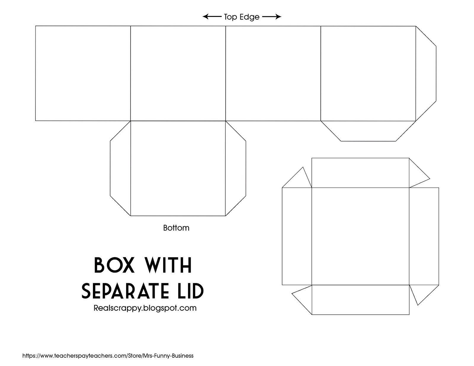 It's just a picture of Insane Square Box Template Printable