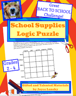 logic, puzzles, back to school