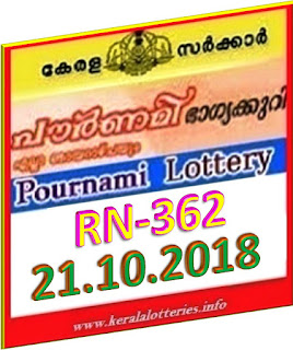 kerala lottery result from keralalotteries.info 21/10/2018, kerala lottery result 21-10-2018, kerala lottery results 21-10-2018, POURNAMI lottery RN 362 results 21-10-2018, POURNAMI lottery RN 362, live POURNAMI   lottery RN-362, POURNAMI lottery, kerala lottery today result POURNAMI, POURNAMI lottery (RN-362) 21-10-2018, RN 362, RN 362, POURNAMI lottery RN362, POURNAMI lottery 21-10-2018,   kerala lottery 21-10-2018, kerala lottery result 21-21-2018, POURNAMI, POURNAMI lottery result today, POURNAMI yesterday lottery results, lotteries results,