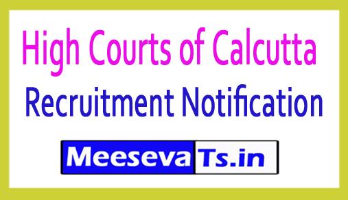 High Courts of Calcutta Recruitment
