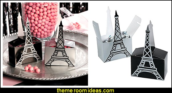 Eiffel Tower Favor Boxes   Paris party decorations - Paris themed party supplies - Party in Paris Birthday Party Decorations  -  Pink Paris Party -  Paris party balloons - Eiffel Tower Favor Boxes -  French-themed celebration  - Pink Poodle Paris Theme Birthday Party