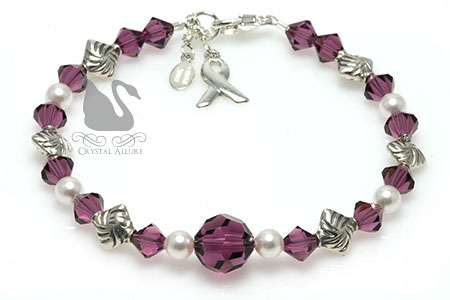 Breathe Free Cystic Fibrosis Awareness Bracelet (B184-CF)