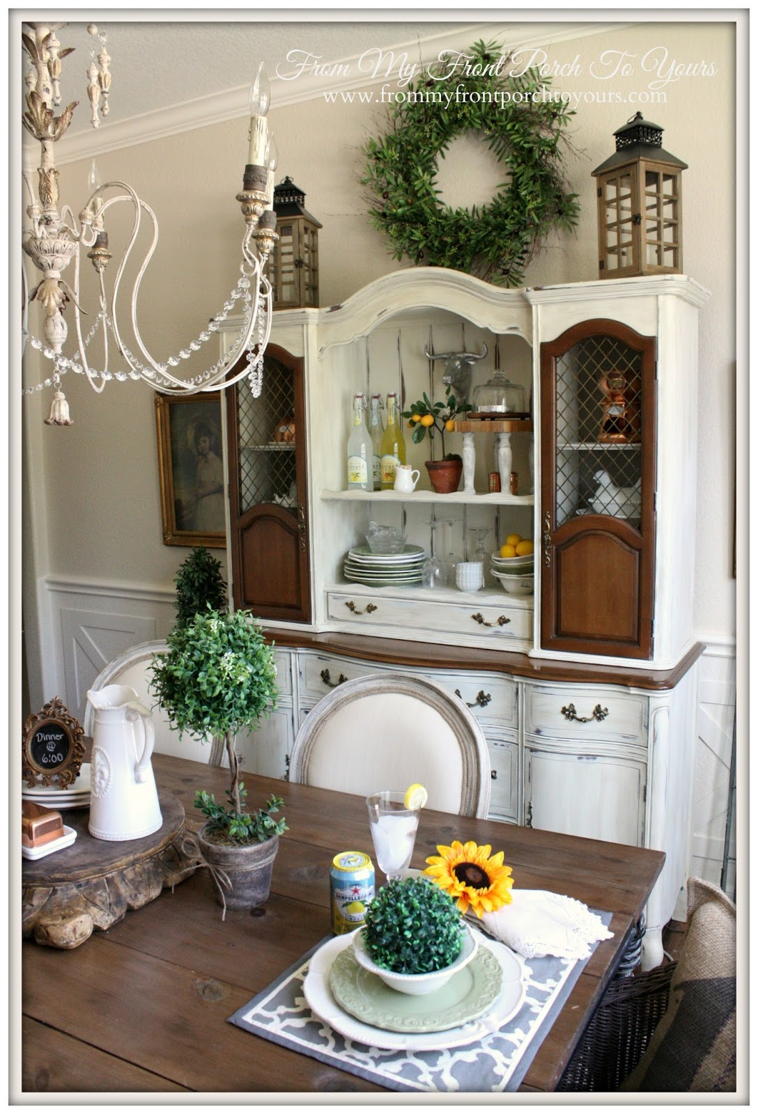 From My Front Porch To Yours- French Farmhouse Dining Room Reveal