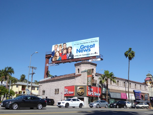 Great News TV series billboard