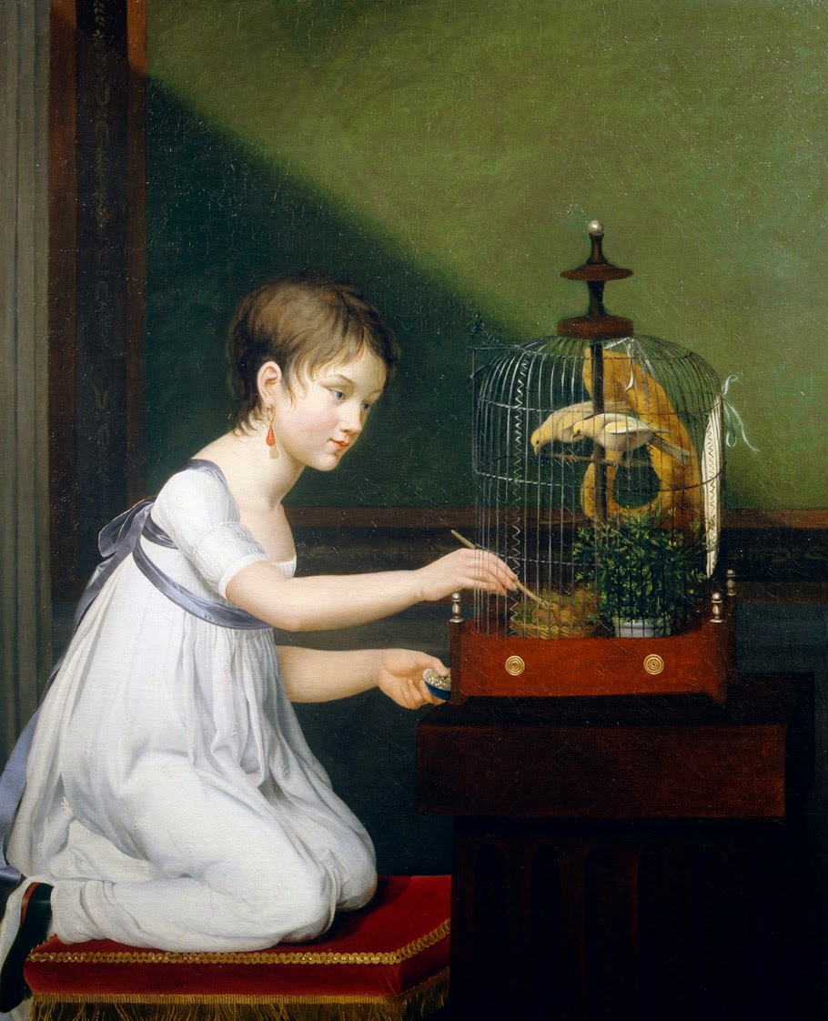 Girl With a Birdcage, Jeanne-Elisabeth Chaudet