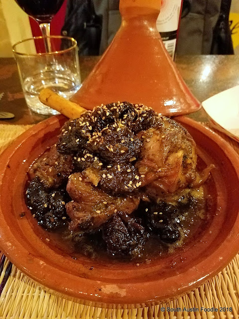 The Flying Carpet lamb + prune tajine Austin TX