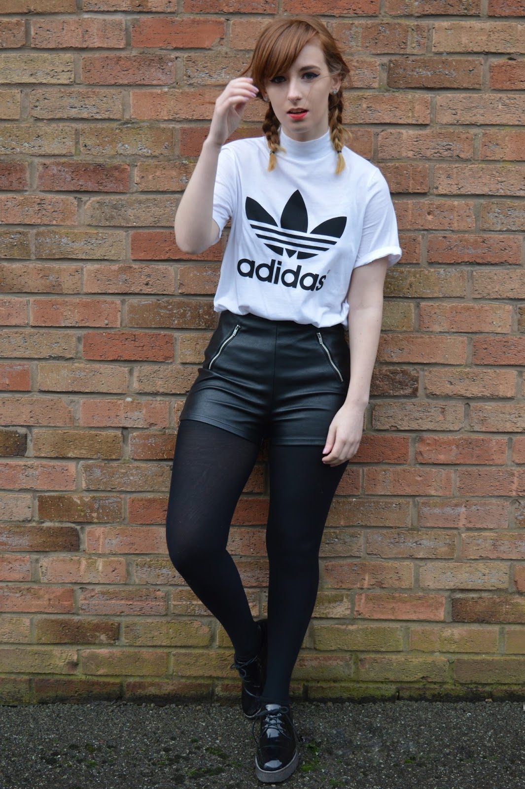 Adidas with leather shorts