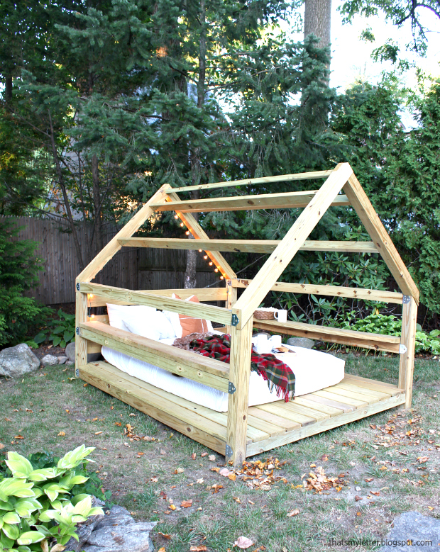 diy outdoor cabana lounge structure