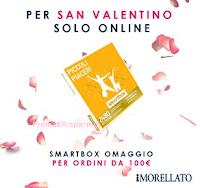 Logo Smartbox per 2 omaggio con il San Valentino di Morellato