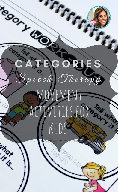 categories speech therapy- movement activities for kids in speech therapy. FUN!