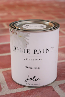 Jolie paint can in terra rosa color