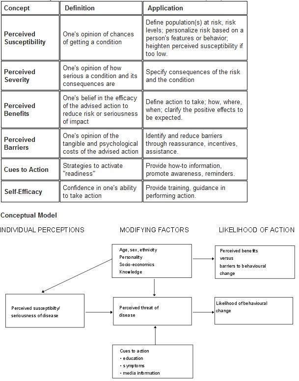 Health Belief Model Examples Quotes