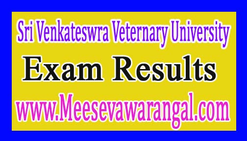 Sri Venkateswra Veternary University Ph.D 2016 Entrance Test Results