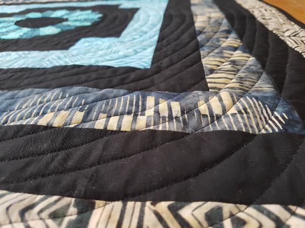 Dresden Log Cabin mini quilt | DevotedQuilter.blogspot.com