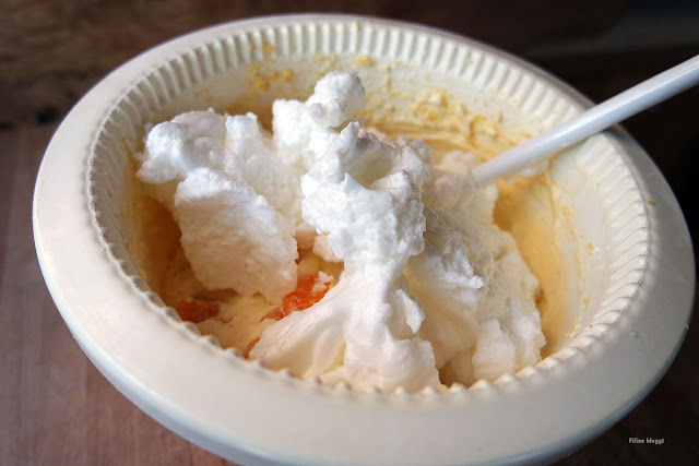 Mandarinen Cheesecake als Dessert ohne Boden gebacken