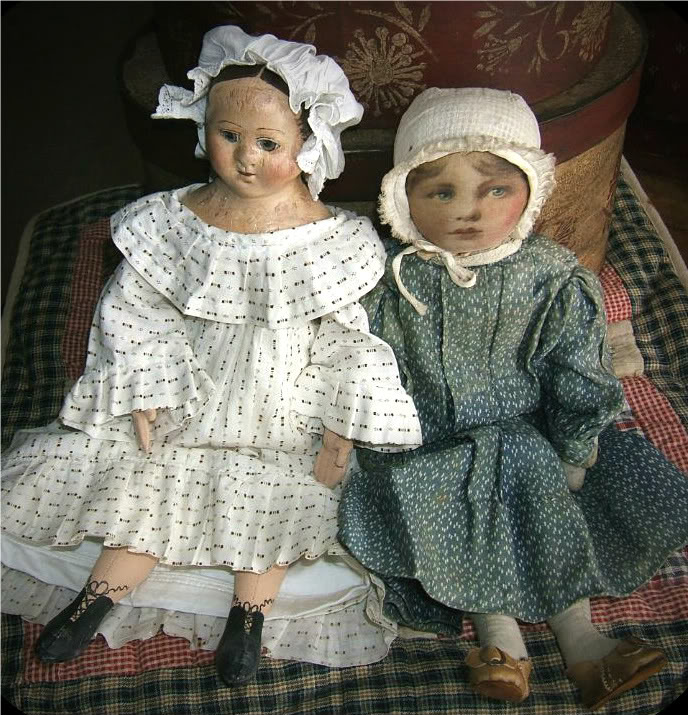 Izannah by Judi w/ antique doll