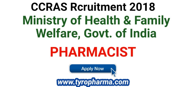 ccras chennai recruitment 2018,ccras pharmacist recruitment 2018,recruitment 2018,ccras,recuritment