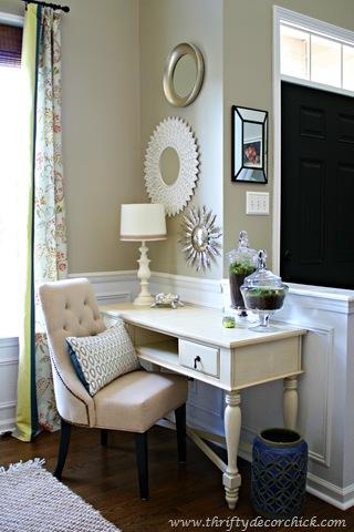 desk by front door