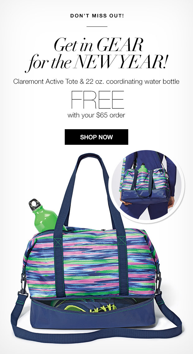 Free Avon tote & 22 oz water bottle with your $65 Avon order + automatically qualify for Free Shipping! Offer exp. 1/7/16 Click for Promo Code.