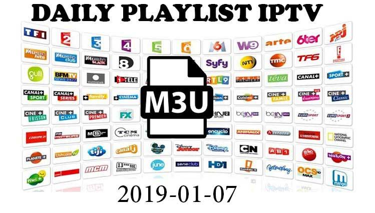 Daily Hits IPTV M3U Links 2019-01-07