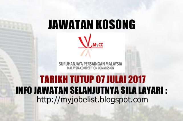 Jawatan Kosong Suruhanjaya Persaingan Malaysia (MyCC) Julai 2017