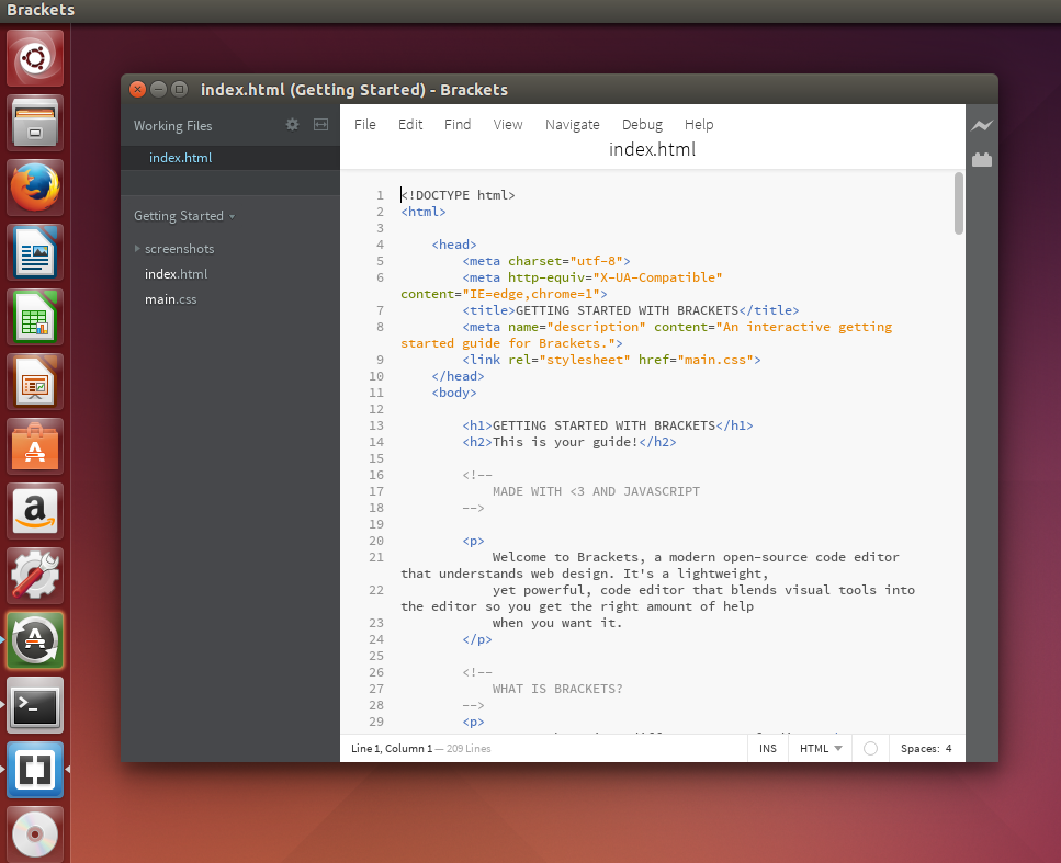 How To Install Brackets Code Editor On Ubuntu 14 10 Linux Mint 17 1