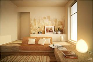 wandgestaltung wohnzimmer mit farbe