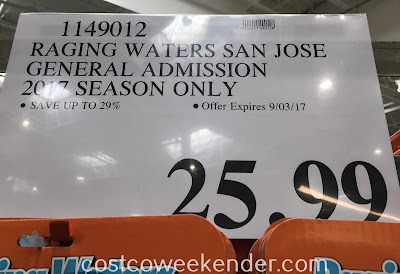 Costco 1149012 - Deal for a Raging Waters 2017 General Admission ticket at Costco