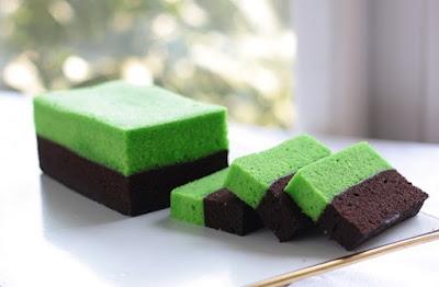 Resep Kue Brownies Kukus Coklat Pandan