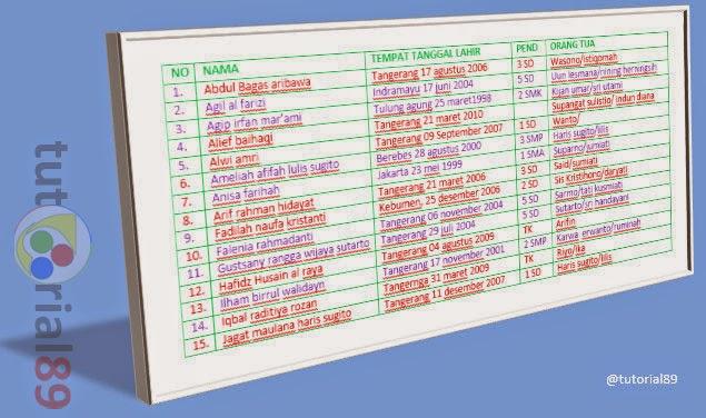 Cara cepat membuat daftar nama sesuai abjad di word
