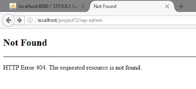 wordpress localhost 8080 redirect to localhost 404 error